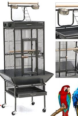 Yaheetech-Pet-Bird-Cage-Play-Top-Parrot-Cockatiel-Cockatoo-Parakeet-Finches-0