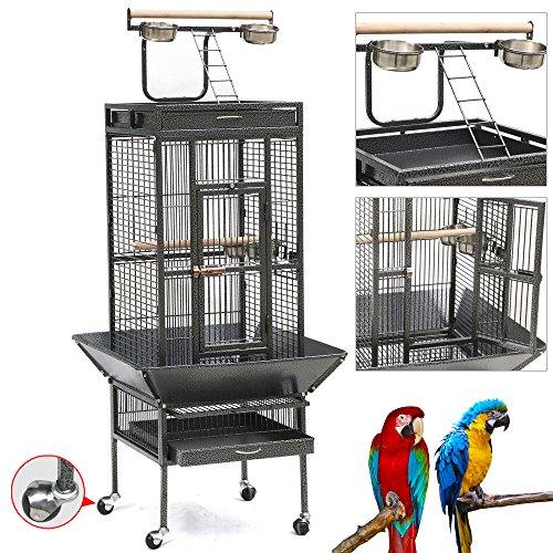 Yaheetech Pet Bird Cage Play Top Parrot Cockatiel Cockatoo