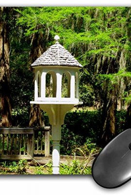 3dRose-8-x-8-x-025-Inches-Mouse-Pad-A-Victorian-Influenced-Bird-Feeder-is-a-Lovely-Garden-Focal-Point-at-Edisto-Memorial-Gardens-Mouse-Pad-mp1552961-0