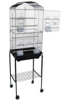 Canary-Parakeet-Cockatiel-LoveBird-Finch-Bird-Cages-18x14x60-With-Stand-0