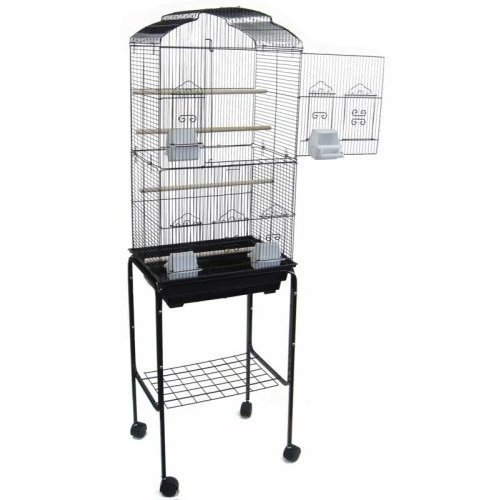 canary parakeet cockatiel lovebird finch bird cages 18 x14 x60 with stand. Black Bedroom Furniture Sets. Home Design Ideas